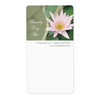 Water Lily Shipping Label