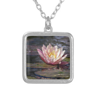 Water Lily Silver Plated Necklace