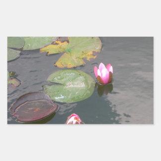 Water Lily Rectangular Sticker