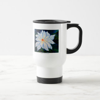 Water Lily TRAVEL MUG WHITE