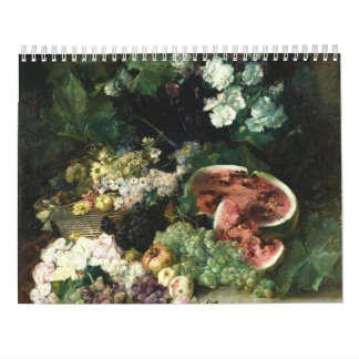 Water Lily Two Page, Medium, White Calendar