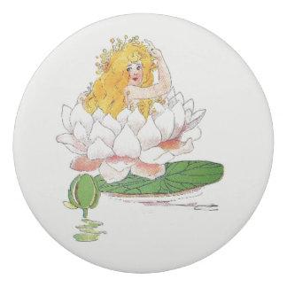 Water Lily Vintage Cute Flower Child Girl Floral Eraser