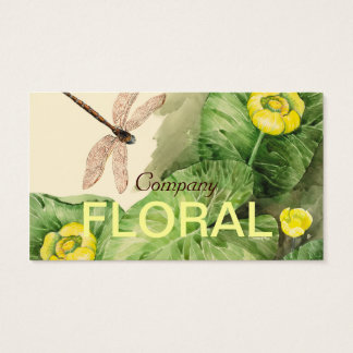 water-lily watercolor business card