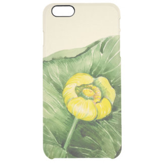 water-lily watercolor clear iPhone 6 plus case