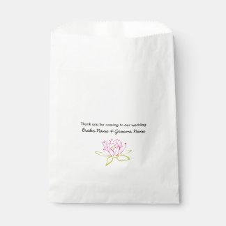 Water Lily Wedding Souvenirs Keepsakes Giveaways Favour Bag