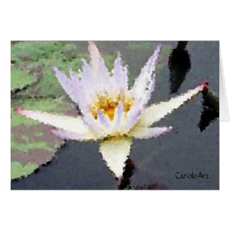 """""""Water Lily White"""" Card"""