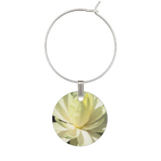 Water Lily Wine Charm