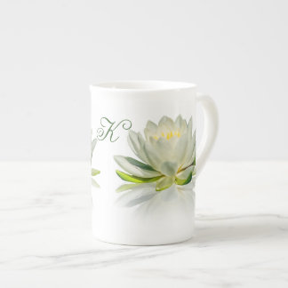Water Lily with Customizable Monogram Tea Cup