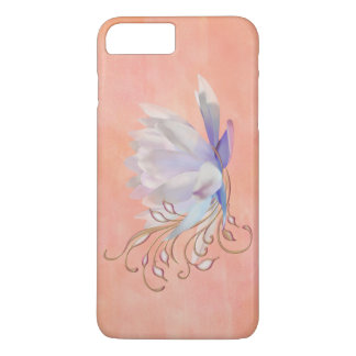 Water Lily with Decorative Swirls iPhone 7 Plus Case