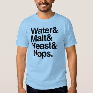 Water & Malt & Yeast & Hops Tees