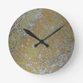 Water Marbling - Cosmos Round Clock