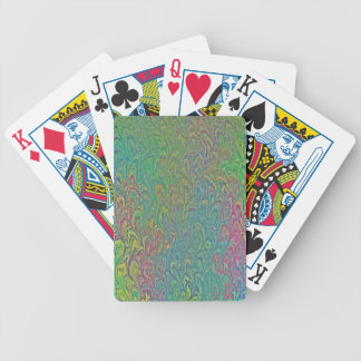 Water Marbling - Tropical Frog Feet Bicycle Playing Cards