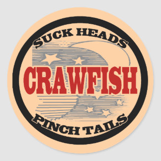 Water Meter Cover Crawfish Classic Round Sticker