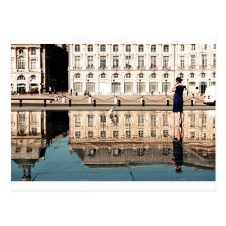 Water Mirror in Bordeaux Postcard