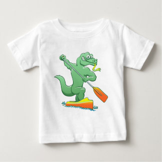 Water monitor competing in a canoe sprint event baby T-Shirt