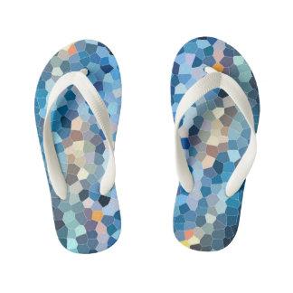 Water Mosaic [Flip Flops, Kids] Kid's Thongs