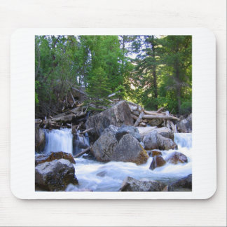 Water Mountain River Falls Mouse Pad