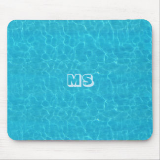 """Water"" Mousepad with (or without) your Initials"