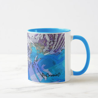 Water Music Coffee Mug in blues and purples