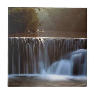 Water Natural Dam Ozark Forest Small Square Tile