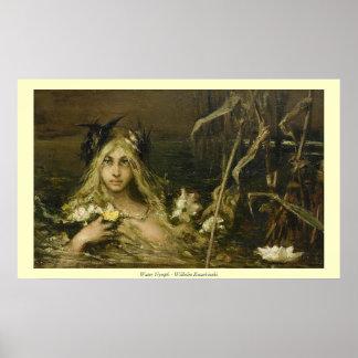 Water Nymph - Wilhelm Kotarbinski Poster