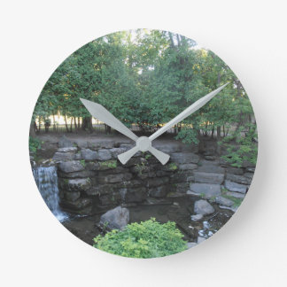 Water Oasis Round Clock