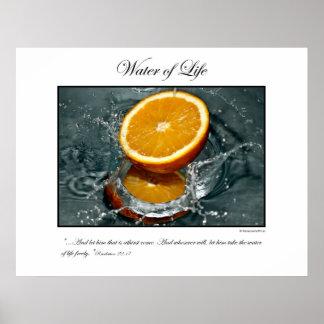 Water of Life - Orange Poster