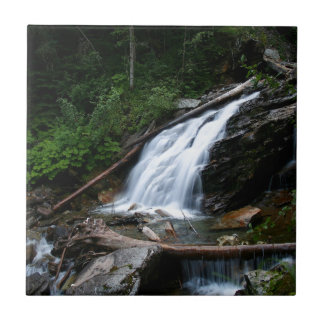 Water Old Mountain Falls Small Square Tile