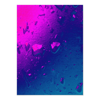 Water on coloured plastic Invitation