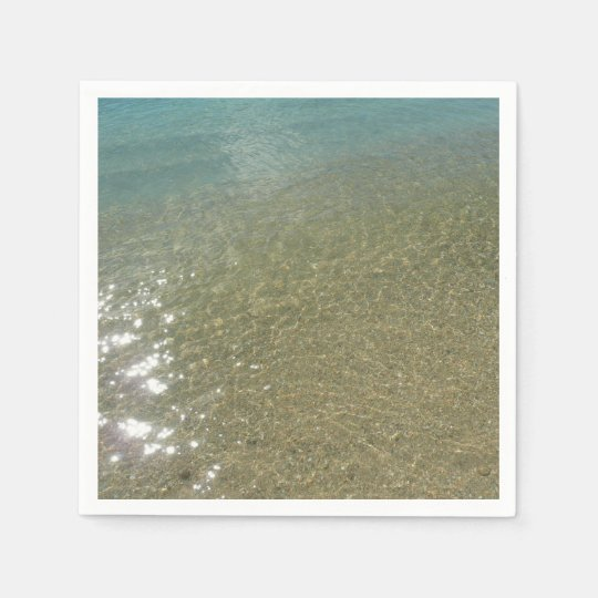 Water on the Beach I Abstract Nature Photography Paper Napkin