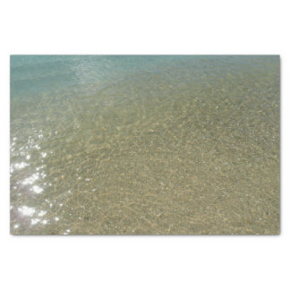 Water on the Beach I Abstract Nature Photography Tissue Paper