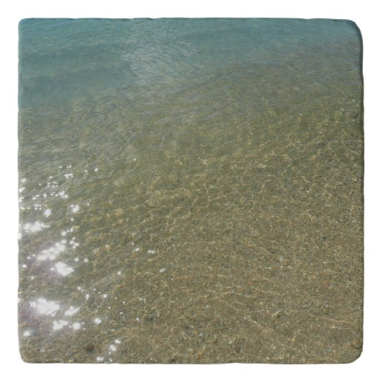 Water on the Beach I Abstract Nature Photography Trivet