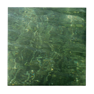 Water over Sea Grass II (Blue and Green) Photo Ceramic Tile