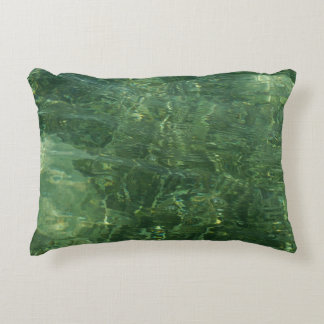 Water over Sea Grass II (Blue and Green) Photo Decorative Cushion