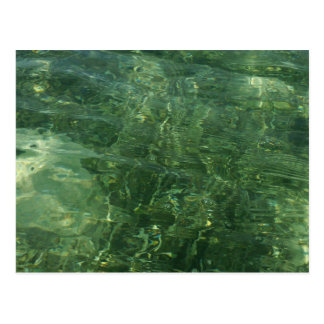 Water over Sea Grass II (Blue and Green) Photo Postcard
