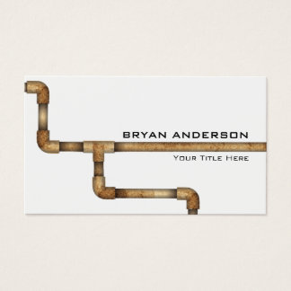 Water Pipe Plumbing Professional Business Card