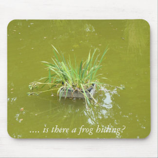 Water plant in a pond – is there a prince hiding? mouse pad