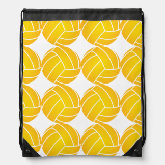 Water Polo Ball Drawstring Backpack