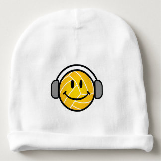 Water polo ball with head phones baby hat baby beanie