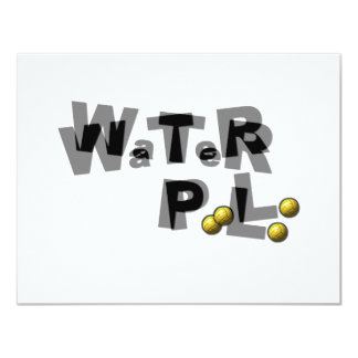 Water polo blur personalized announcement