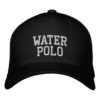 Water Polo Embroidered Baseball Caps