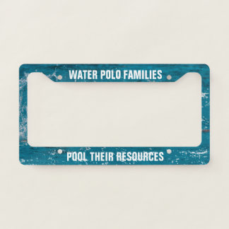 Water Polo Families Pool Their Resources Template Licence Plate Frame