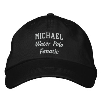 Water Polo Fanatic Custom Name V08D Embroidered Hat