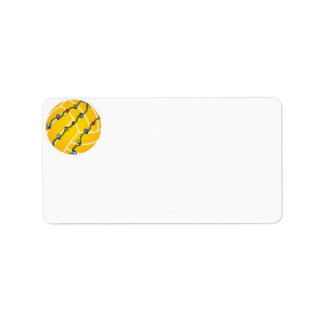 Water Polo Holiday Labels