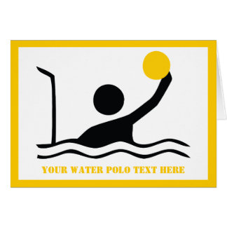 Water polo player black silhouette custom card