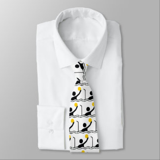 Water polo player black silhouette icon tie