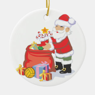 Water Polo Santa Ornament