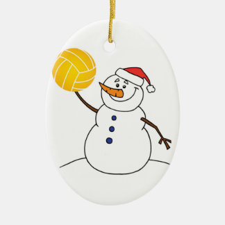 Water Polo Snowman Ornament