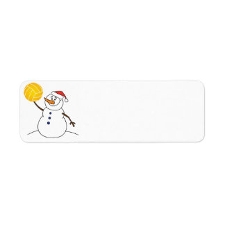 Water Polo Snowman Return Address Label