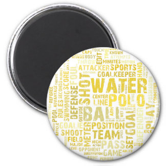 Water Polo Word Cloud Products 6 Cm Round Magnet
